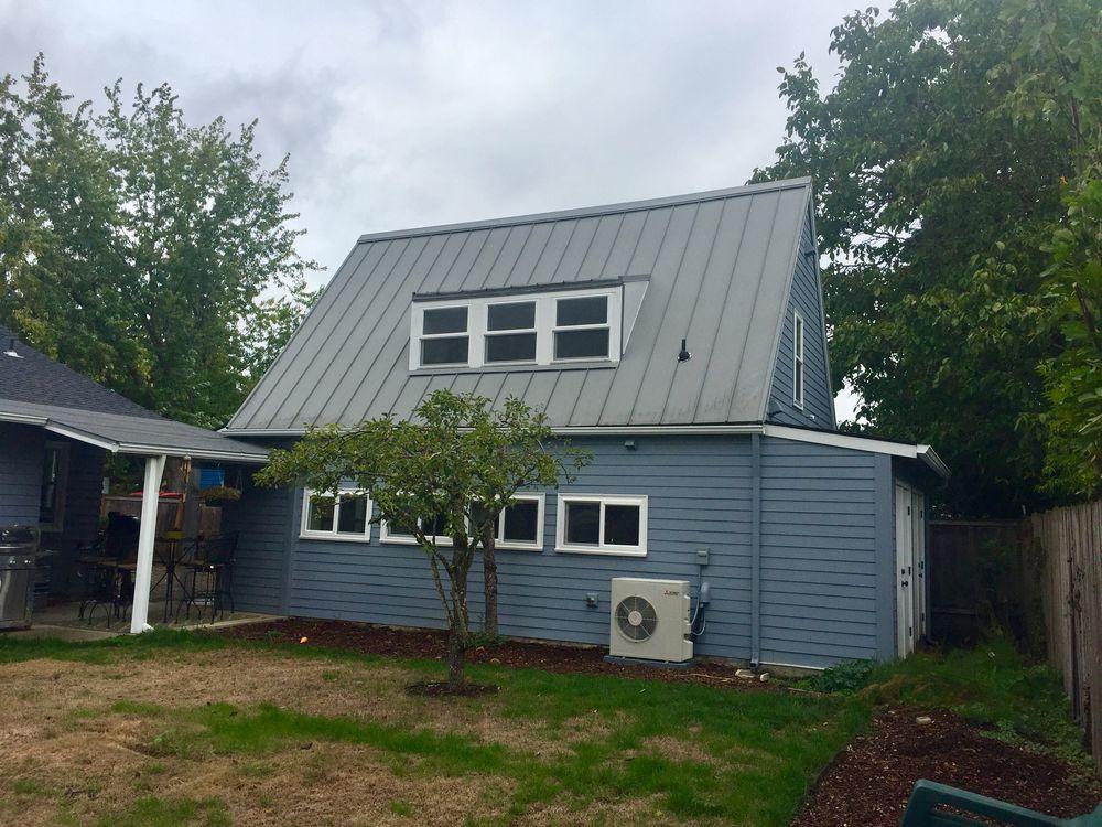 Calley garage to adu conv se portland shelter for Garage prime conversion